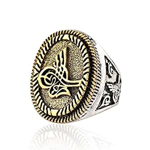 Amazon.com: GDSTAR Jewelry Faith Ring Man Oval Anel Que Muda Be Cor