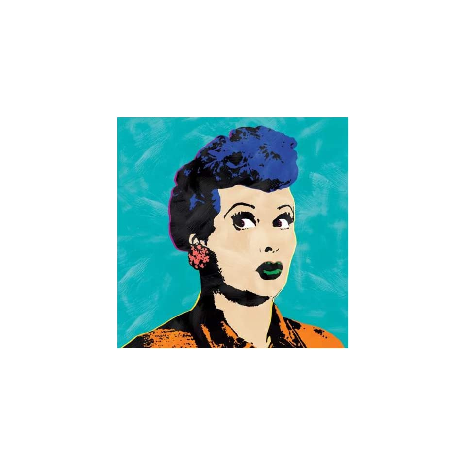 Westland Giftware Canvas Wall Art, Pop Art Lucy Turquoise Canvas W Art, 12 by 12