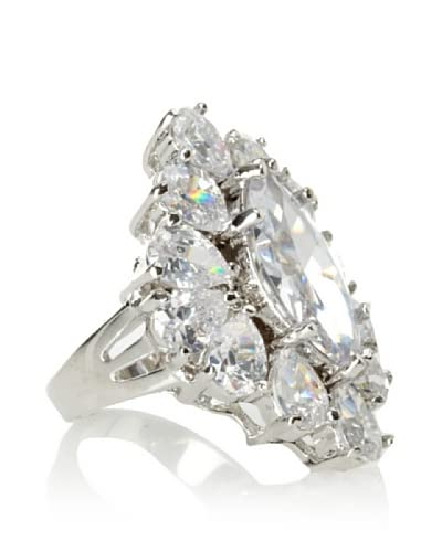 CZ by Kenneth Jay Lane Statement Cluster Cubic Zirconia Ring, Size 7