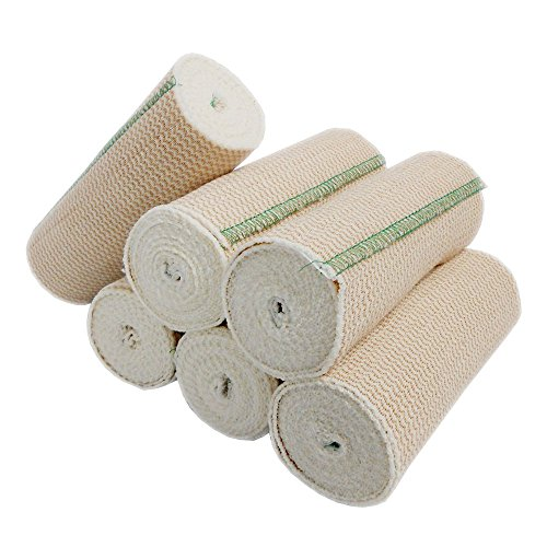 Spa Slender Body Wrap Elastic Bandages Latex Free (Pack of 6) (Ace Wraps compare prices)