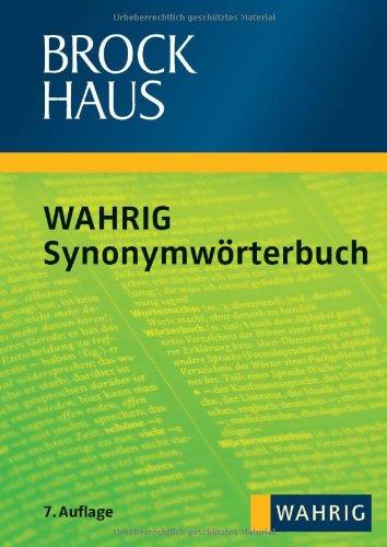 Abbildung: Brockhaus WAHRIG - Synonymwörterbuch