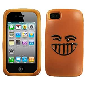MyBat Apple iPhone 4s/4 Delighted Danish Phone Protector Cover - Retail Packaging - Brown