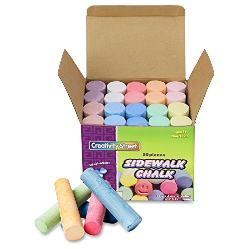 Chenille Kraft Company Sidewalk Chalk, Assorted Colors, Box Of 20 - 1