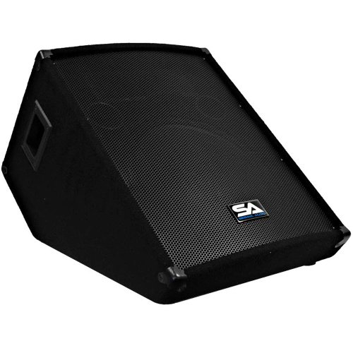 Seismic Audio - 15 Inch Floor Wedge Style Monitor - Studio, Stage, Or Floor Use - Pa/Dj Speakers - Bar, Band, Karaoke, Church, Drummer Use