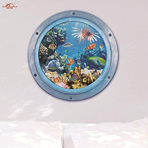 autocollant-de-mur-amovible-3d-monde-sous-marin-50cmx70cm-matiere-pvc-yuxin