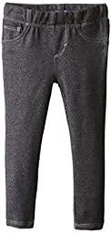 Levi\'s Little Girls\' Essential Knit Legging, Black, 4T