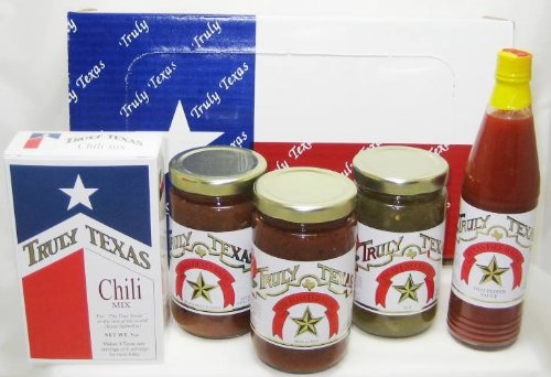 Texas Special Salsa, Hot Sauce and Chili Gift Pack Truly Texas (Texas Sauce Pack compare prices)