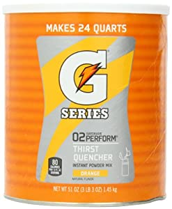 Gatorade Orange Instant 51oz - 6 Gallon Mix