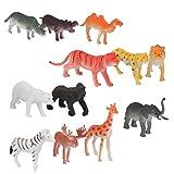 Estos modelos de juguetes de los animales salvajes pueden cumplir su inclinación cobro o su juego imaginativo niño \ 's.     Descripción:     12pcs atractivos modelos animales salvajes para niños  Ven en forma delicada animal con varias poses y c...