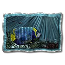 36x24 saltwater fish metal wall a rt home decor wall sculpture