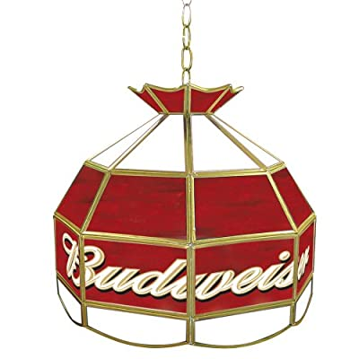 Trademark Budweiser 16-Inch Tiffany Lamp Light Fixture
