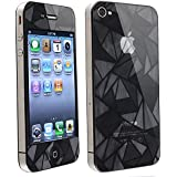 Leegoal(TM) 3D Diamond Front+Back Screen Cover Protector Film Guard Set compatible with Apple iPhone 4 4s