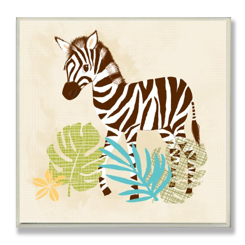 The Kids Room by Stupell Happy Zebra Square Wall Plaque