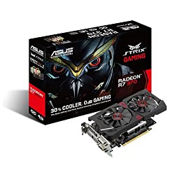 ASUS Radeon R7 370 Strix Gaming Edition Overclocked 4GB 256-Bit GDDR5 PCI Express 3.0 HDCP Ready CrossFireX Support Graphic Video Card