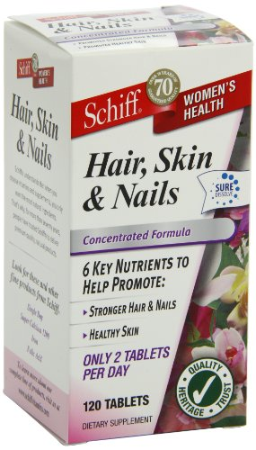 Schiff Hair, Skin & Nails, 120 Tablets