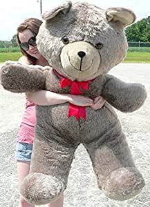 big plush giant teddy bear 4 feet tall tan available at amazon for. Black Bedroom Furniture Sets. Home Design Ideas