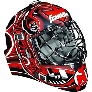 Franklin NHL Team SX Comp GFM 100 Youth Goalie Face Mask - New Jersey Devils
