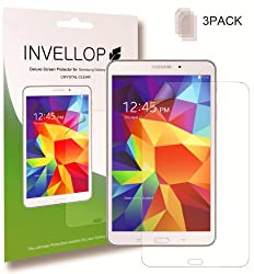 INVELLOP Samsung Galaxy TAB 4 8.0 Crystal Clear HD 3-pack Screen protectors 8inch tablet