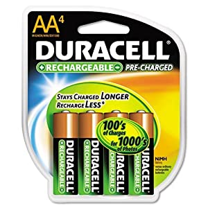 Rechargeable Nimh Batteries With Duralock Power Preserve Tech, Aa, 4/Pack