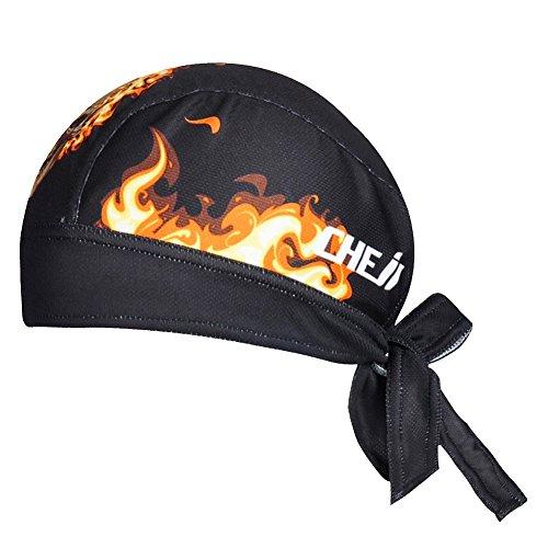 Ksweet Uomo Bandana Estiva Ciclismo Running Bandana per attività Sportiva Berretti (black-fire)