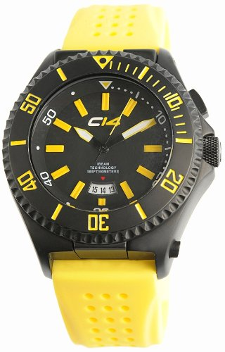 Carbon 14 Men's IBeam Watch W2.1 with Yellow Silicone Band
