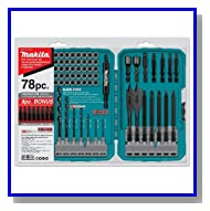 Makita T-01769 Contractor-Grade Bit Set 78-Piece