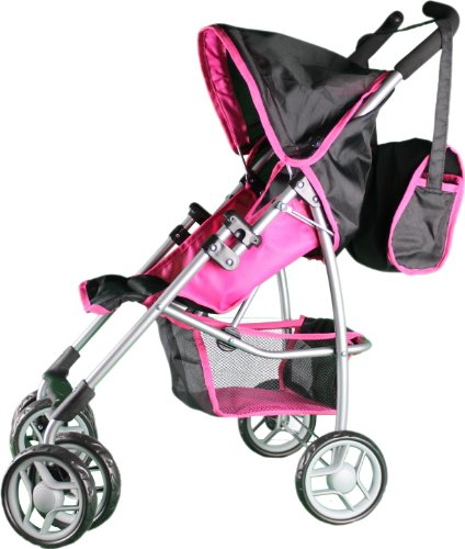 Mommy & Me Doll Stroller Swiveling Wheels With Free Carriage Bag 9351A front-242897