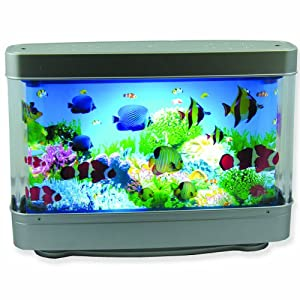 Aquarium lamp with fish ocean in motion for Fish tank night light