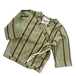Sckoon Organic Cotton Jacquard Baby Kimono Zen Green 1 - 2 Years