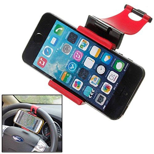 AUDEW Auto Halterung Auto Lenkrad handyhalter GPS Halterung für Samsung Iphone