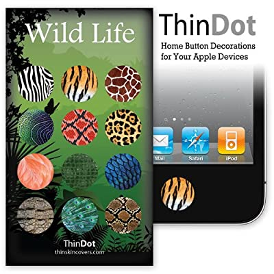 "ThinDot Home Button Stickers for iPhone, iPad and iPod Touch ""Wild Life"""