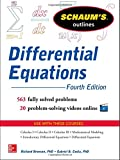 img - for Schaum's Outline of Differential Equations, 4th Edition (Schaum's Outline Series) book / textbook / text book
