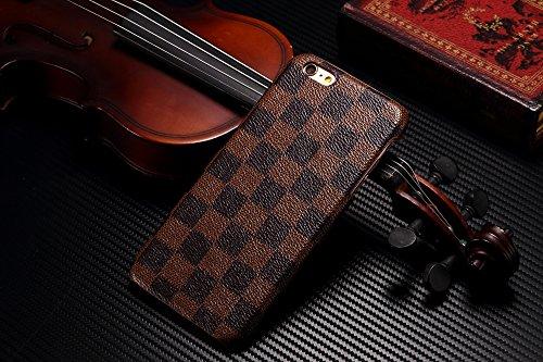 """HG Case® (Fullfilled e spedito da Amazon) alta qualità LUSSO Designer TPU copertura custodia a portafoglio Flip borsa unisex per, PLASTICA, marrone, Iphone 6/6S (4.7"""")"""