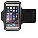 LK iPhone 6 Plus Armband – Sports Armband for iPhone 6 Plus 5.5inch Water Resistant + Sweat Proof + Key Holder (Black)