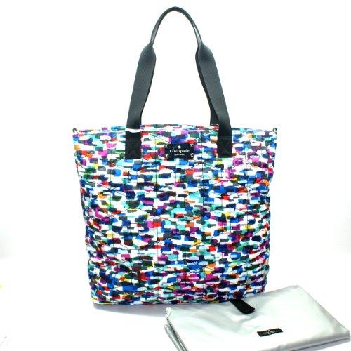 Kate Spade Signature Spade Quilted Bon Shopper Diaper Bag/ Tote Bag (Multi-Color) #Pxru3826 front-473696