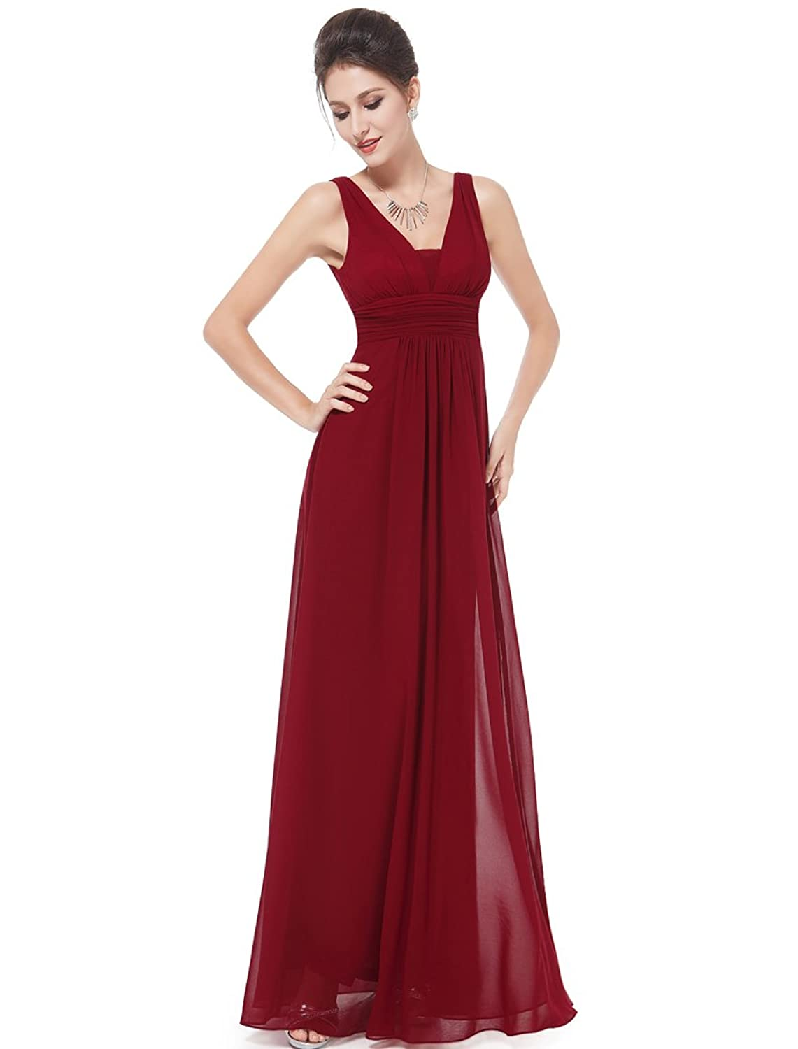 Ever Pretty Double V-Neck Ruched Waist Ladies Long Evening Dress 08110 ободки pretty mania ободок