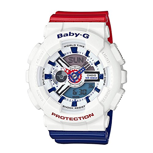 G-Shock Women's BA-110TR-7ACR White/Red/Blue Watch