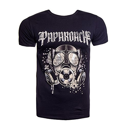Papa Roach Face Mask T Shirt (Nero) - X-Large