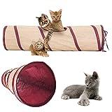Poppypet Faltbare Katzentunnel Spieltunnel für Kaninchen Katze Kätzchen Welpen Spielzeug Höhle, Kätzchen und Hunde Welpe Trainieren und Spielen