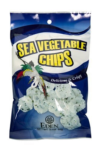 Eden Sea Vegetable Chips, 2.1-Ounce Packages (Pack of 20)