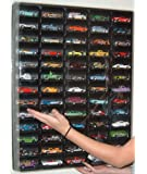 Mascar Ultima Hotwheels Matchbox 1/64 scale Display case with Clear Snap-On Dust Cover for 65 cars