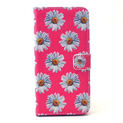 iPhone 6 Plus/6S Plus Case, Firefish Folio Flip Premium PU Leather Lovely Wallet Shell [Scratch-resistant][Kickstand][Card Holder] for Apple iPhone 6 Plus/6S Plus+ One Stylus-Daisy (Nike Shoe Storage Box compare prices)