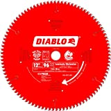 Freud D1296N Diablo 12-Inch 96 Tooth TCG Non-Ferrous Metal and Plastic Cutting Miter Saw Blade with 1-Inch Arbor
