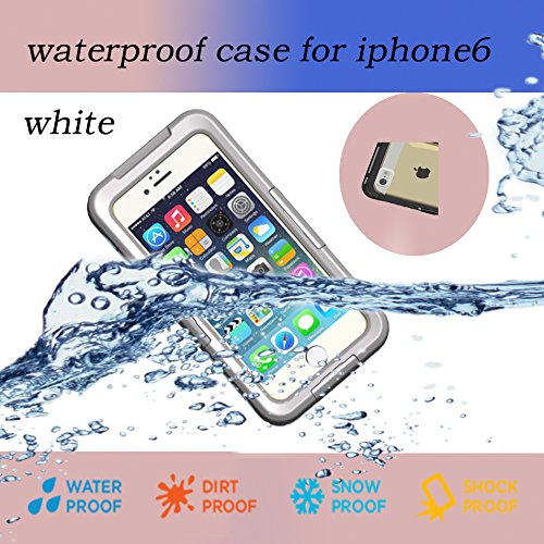 Nancy'S Shop Iphone 6 4.7 Inch Waterproof Case Cover, Pvc Waterproof Shockproof Dustproof Snowproof Protective Case Cover For Iphone 6 (4.7 Inch) Rohs (2 - White)