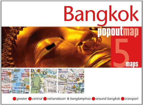 Bangkok Popout Map - pocket size pop-up map of Bangkok (Popout Maps)
