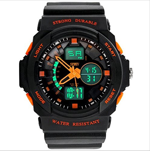 Digital-Analog Children Teen Watches Quartz Electronic Led Chronograph Jelly Silicone Wearable Durable For Swim