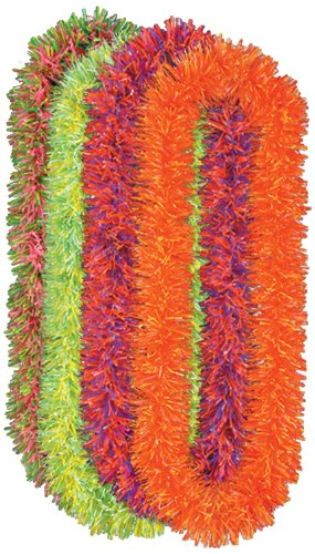 Soft-Touch Neon Poly Leis (asstd colors)    (4/Bundle)