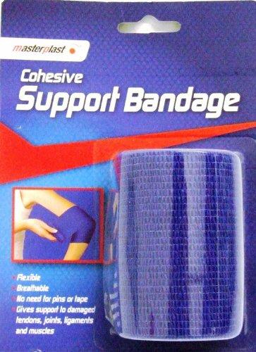 7CM X 4M BLUE FLEXIBLE COHESIVE SUPPORT BANDAGE
