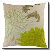 Emboirdery & Applique Floral Throw Pillow Cover 18