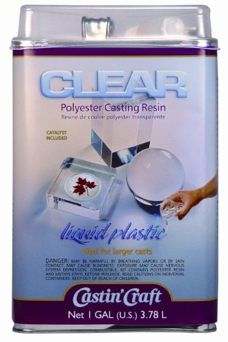 Environmental Technology 128-Ounce with 1/2-Ounce Catalyst Casting' Craft Polyester Casting Resin, Clear (Polyester Casting Resin compare prices)